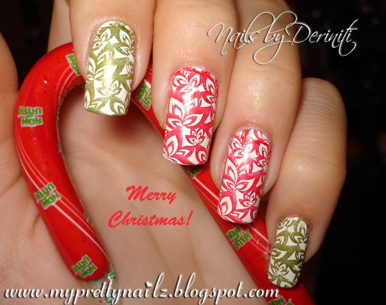 My Pretty Nailz New Christmas Nail Art Stamping Design Merry