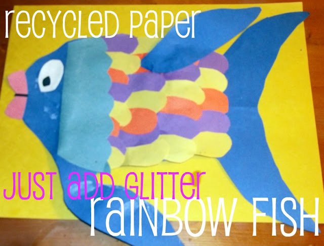 Rainbow fish theme for preschool easy paper fishing craft ideas