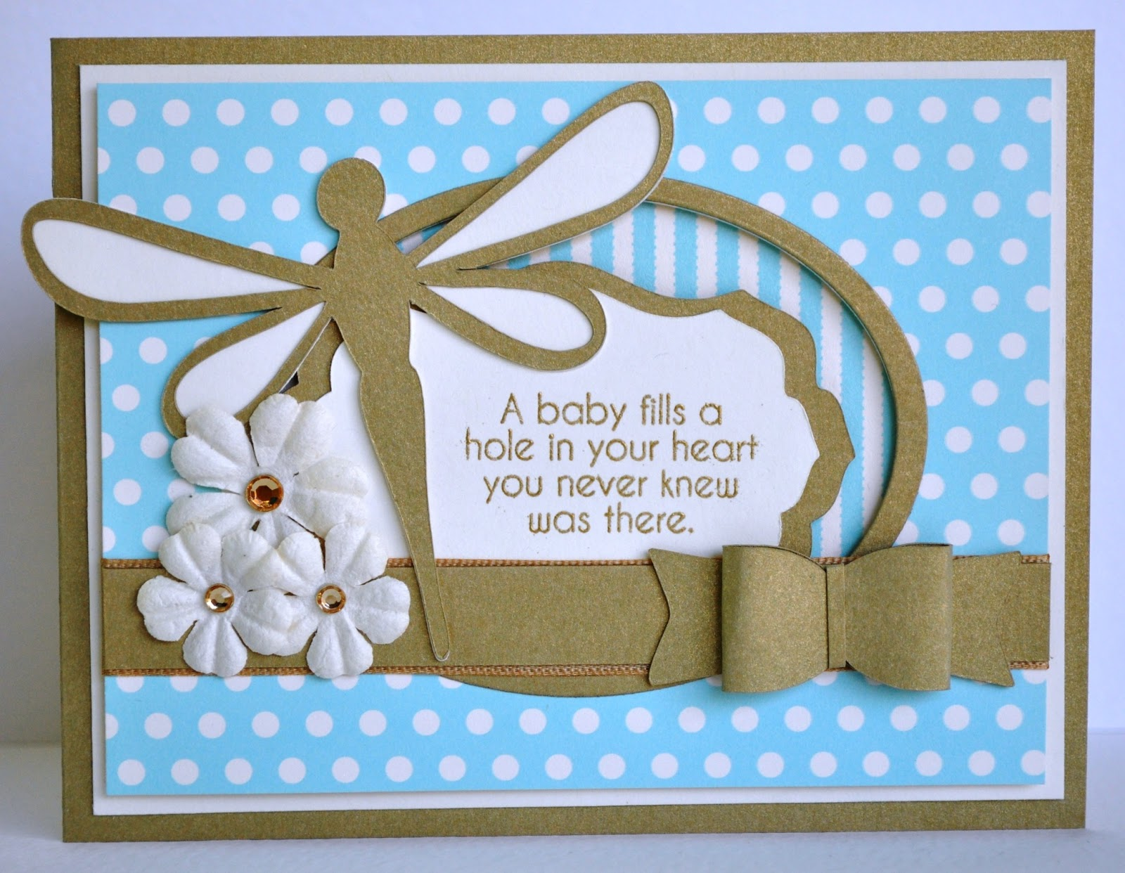 DAT39;S My Style: Dragonfly Baby Boy Card
