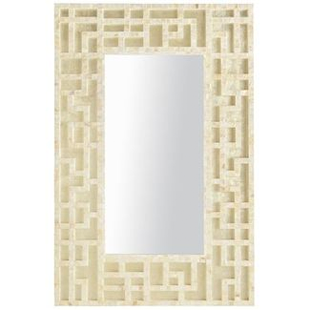 PIER 1 IMPORTS MOTHER-OF-PEARL TRELLIS MIRROR