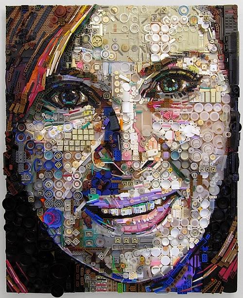 Zac Freeman, retratos reciclados