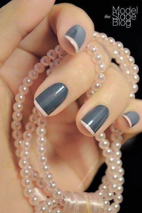 Gray Nails Designs
