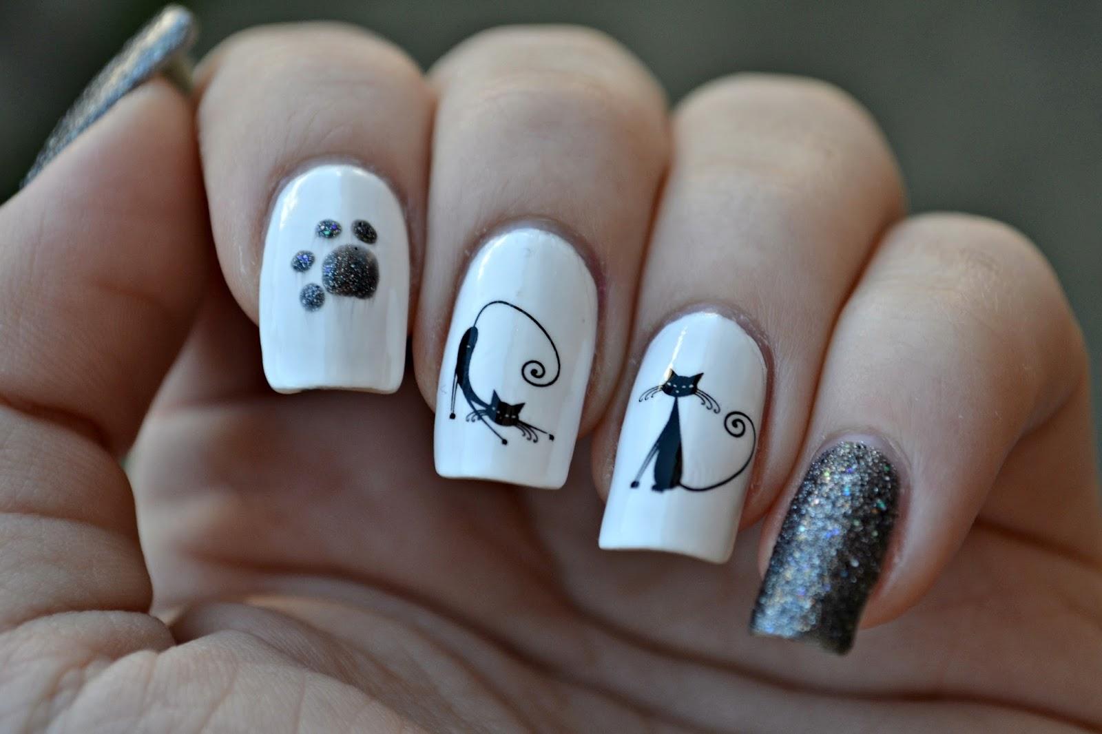 cute cats nails