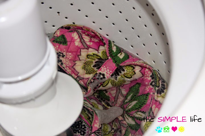 can i machine wash vera bradley bags