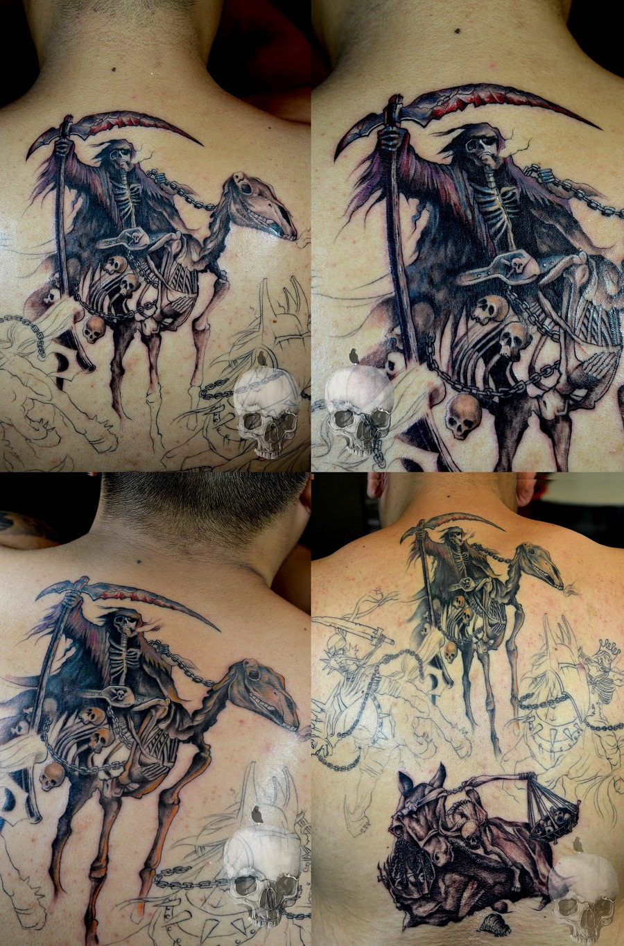 the four horsemen of apocalypse tattoo gallery. Black Bedroom Furniture Sets. Home Design Ideas