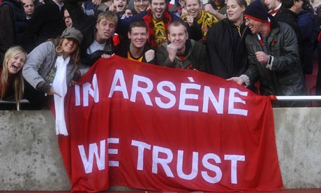 In Arsene we trust nowhere to be seen