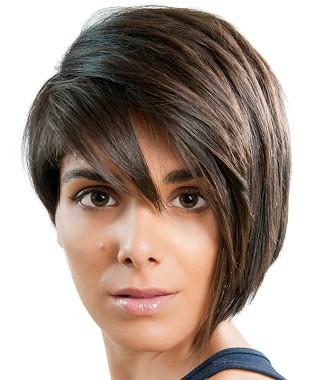 Corte de pelo corto Bob asimetrico 2013