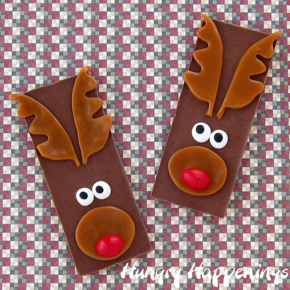 Christmas Food Craft Ideas Part - 39: Rudolph The Red Nose Reindeer Candy Bars U2013 Edible Christmas Craft