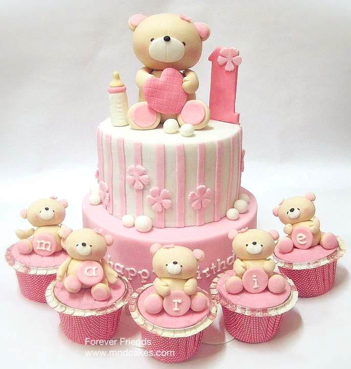 Mom And Daughter Cakes Lovely Bears Birthday Cakes For Children