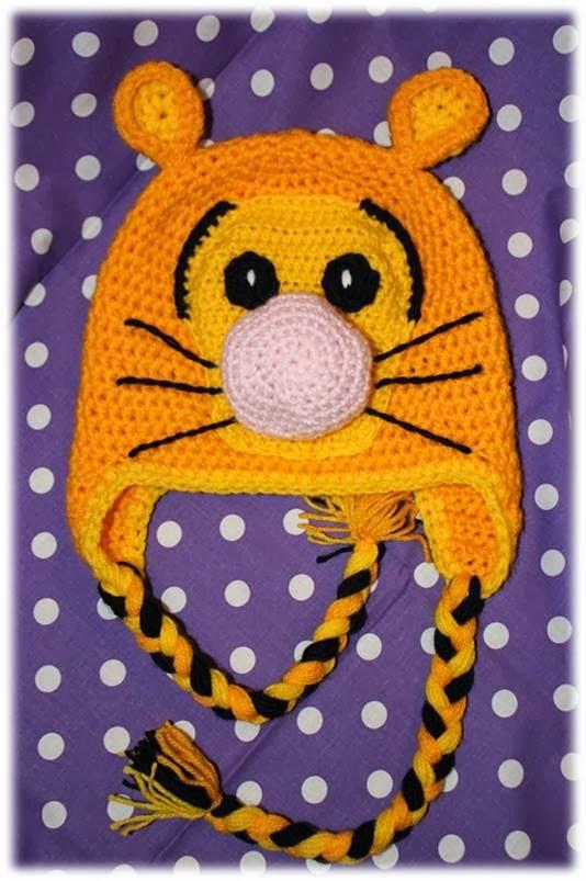Czapeczka tygrysek na szydełku