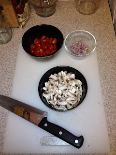 shallots cherry tomatoes mushrooms