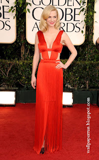 January Jones attends the 68th Annual Golden Globe Awards in Beverly Hills