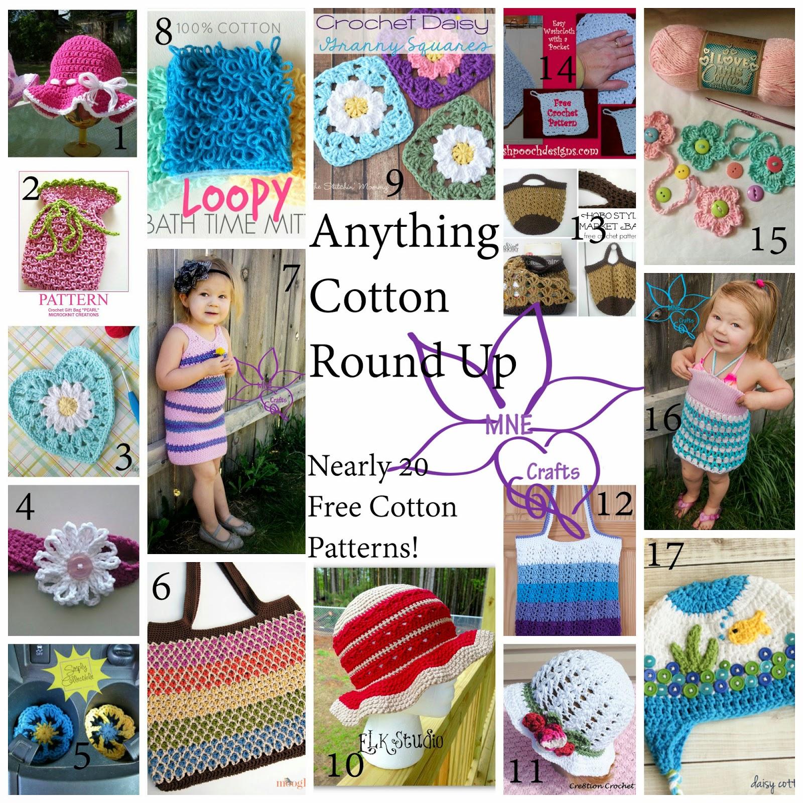 Mne Crafts Cotton Crochet Round Up 15 Free Patterns