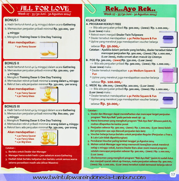 "Info All For Love & Program Rekrut ""Rek Ayo Rek"""