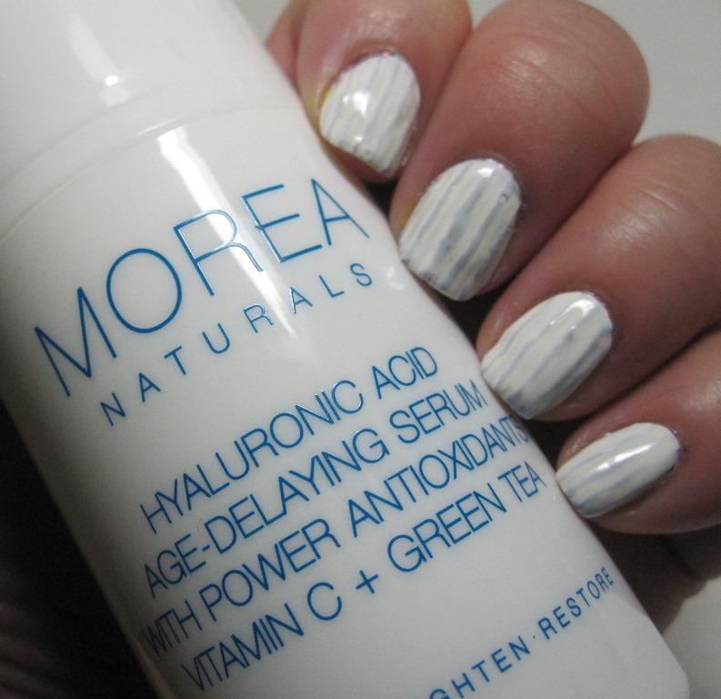 homage mani to Morea Naturals Hyaluronic Acid serum