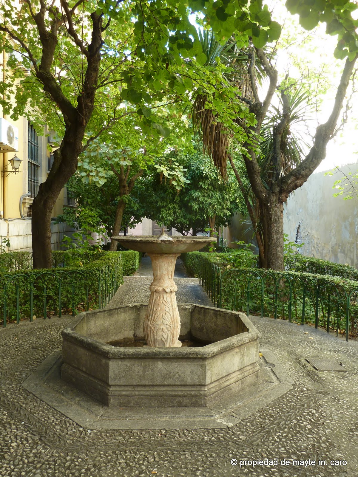 Fuentes de granada el jard n rom ntico de la facultad de for El jardin romantico