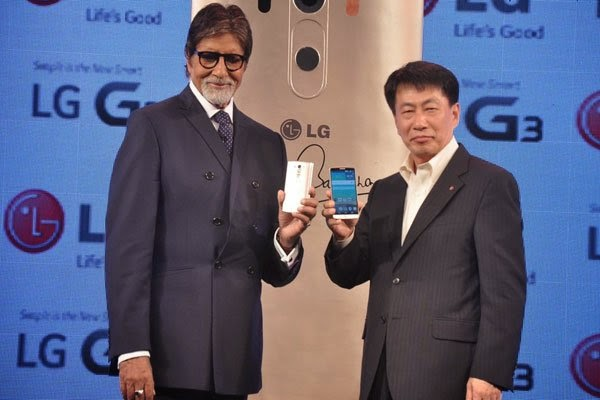 Actor Amitabh Bachchan at LG mobile launch gallery