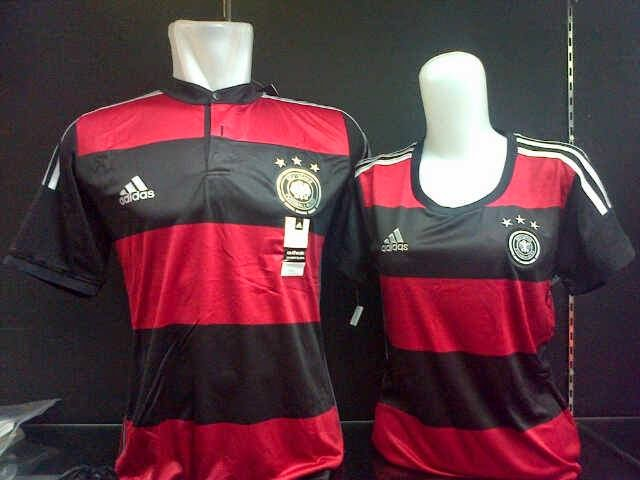 Model Baju Couple Murah & Cantik Piala Dunia Jerman Away Terbaru 2014