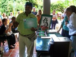 Wilfredo Requena en el premio Nacional de Conservación Enrique Tejera 2011