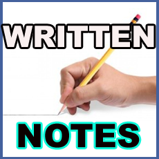 Download Free Written Notes for All Classes