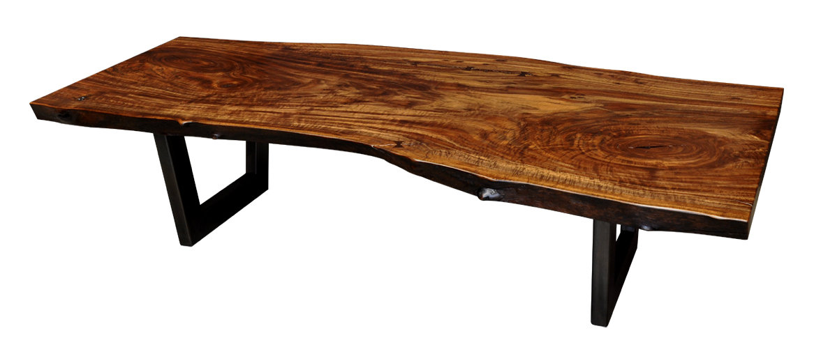 ... of claro walnut coffee tables this week it was a perfect slab for a