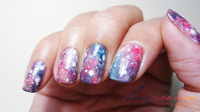 NOTD - Washed Out Galaxy Nails