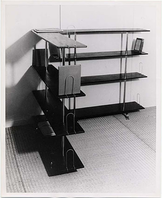 Isokon Chaise,  Bookcase designed by Marcel Breuer, ca. 1931.