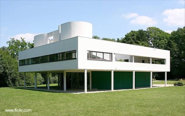 Villa Saboye, residencia de diseño moderno, estilo Racionalista, proyectada por Le Corbusier