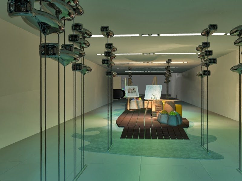 Interior Design Hermes Watch Event Singapore 3D Perspective