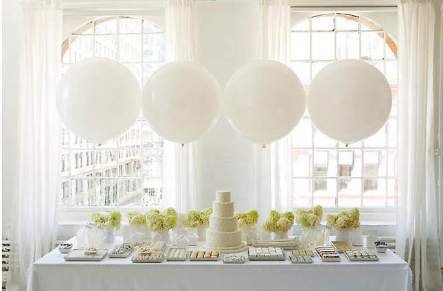 Wishahmon blog balloons and wedding decor for Balloon decoration ideas for weddings