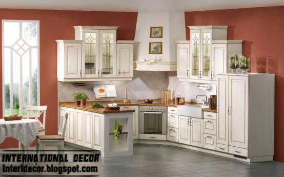 White Kitchens Designs With Classic Wood Kitchen Cabinets Interior Home Decors