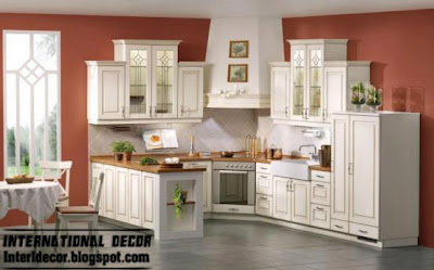 classic wood kitchen cabinets with white paints, wood white kitchen cabinets