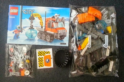 LEGO City Arctic Ice Crawler 60033 Review pack opened contents