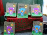 Bolsas decoradas para las carpetas de fin de año!!!
