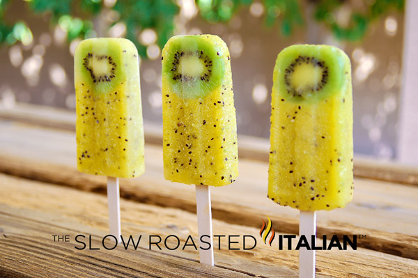 Green Tickles: Kiwi Pineapple Popsicles
