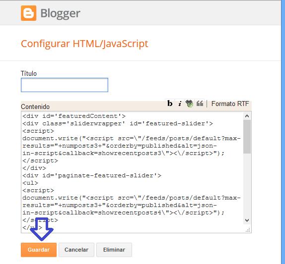 Slideshow para Blogger ¿Cómo crear?