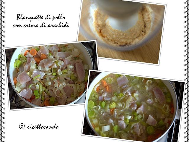 Blanquette di pollo alle arachidi preparazione della ricetta