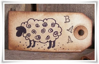 Primitive Sheep Altered Hangtag
