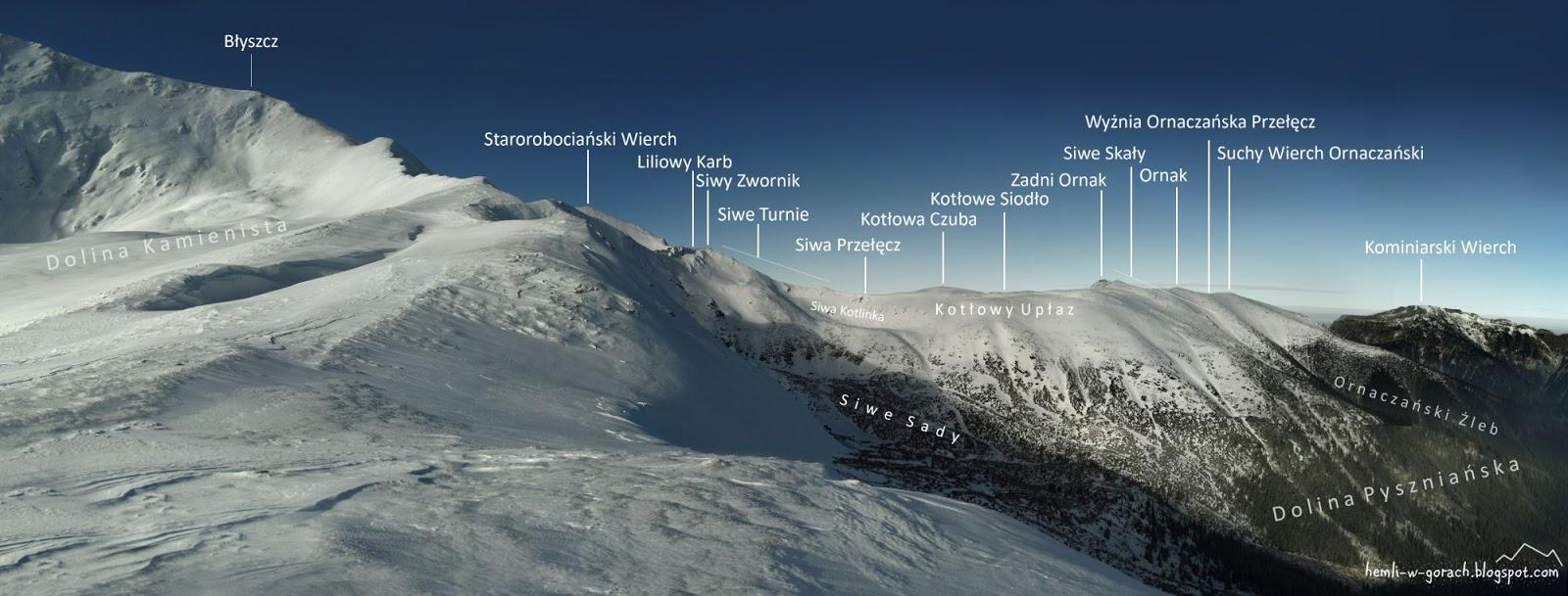Panorama z Pyszniańskiej Przełęczy