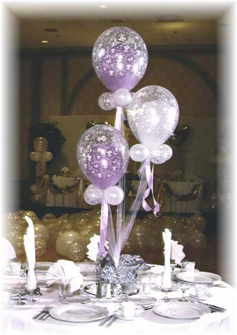 Balloon centerpieces ideas party favors ideas for Ballon wedding decoration