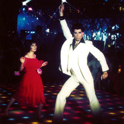 SaturdayNightFever%252B70s%252Bdisco colin andrew firth The film, starring John Travolta and Karen Lynn Gorney, ...