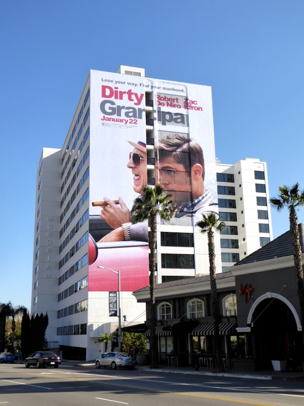 Giant Dirty Grandpa billboard