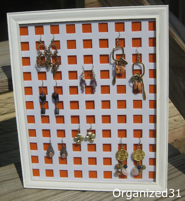 Organized 31 - Repurposed Earring Holder