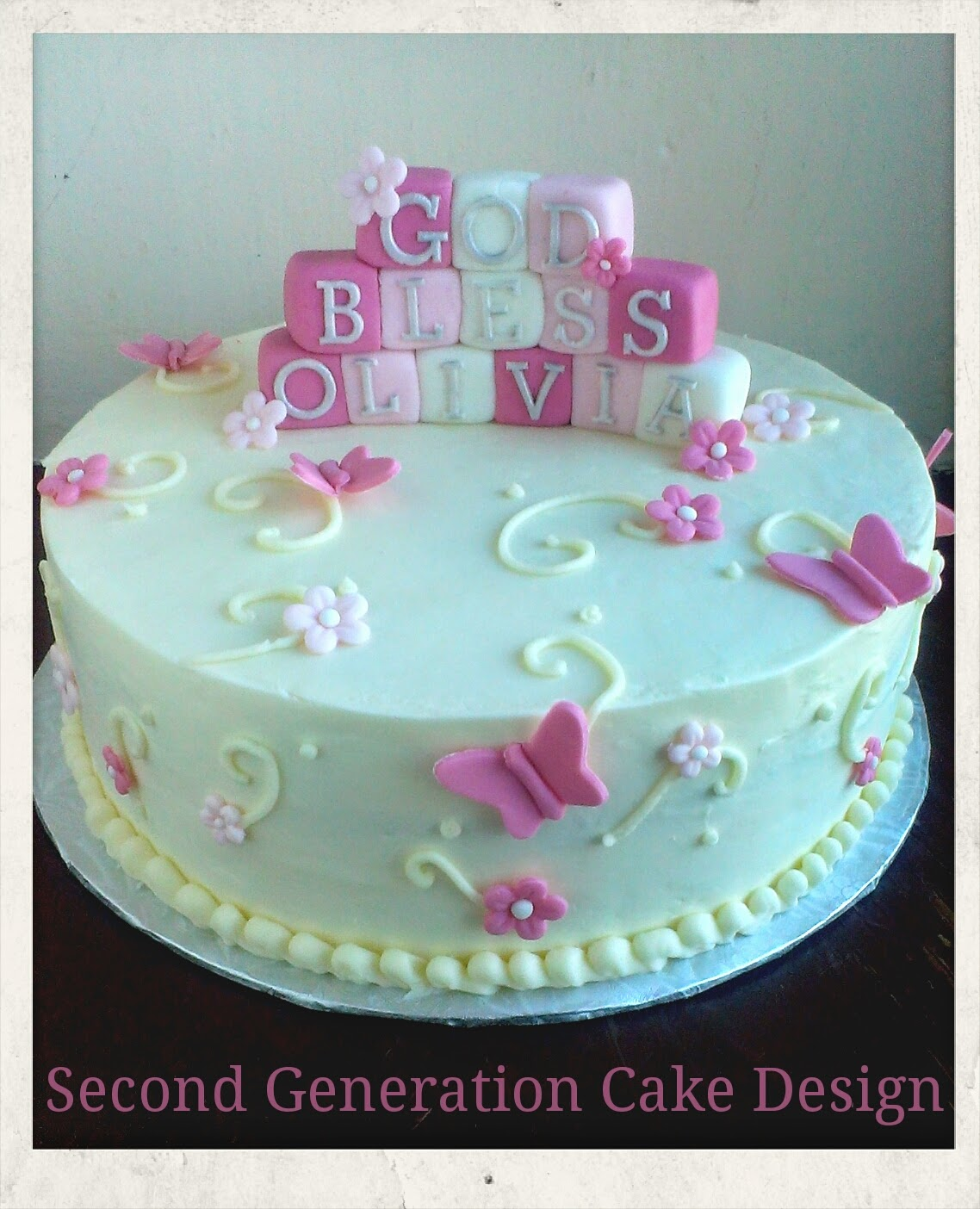 Second Generation Cake Design: Butterfly and Flower ...