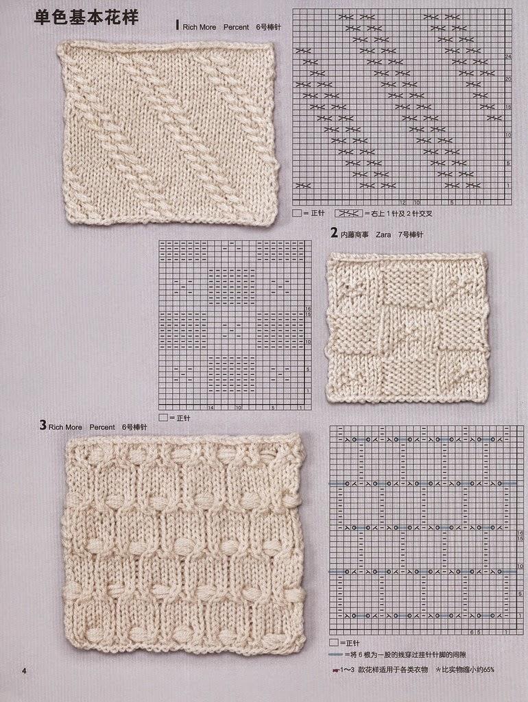 Puntos con patrones en dos agujas   Crochet y Dos agujas - Patrones ...