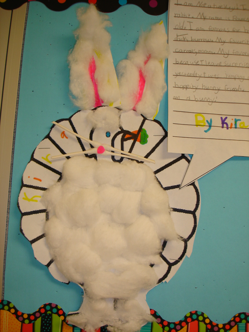 How to decorate and hide the turkey - Bunny