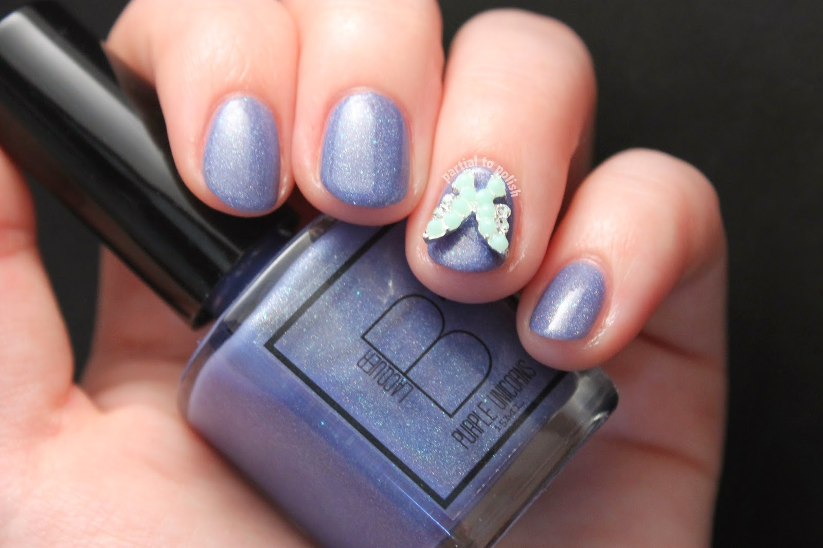 B Squared Lacquer Purple Unicorns