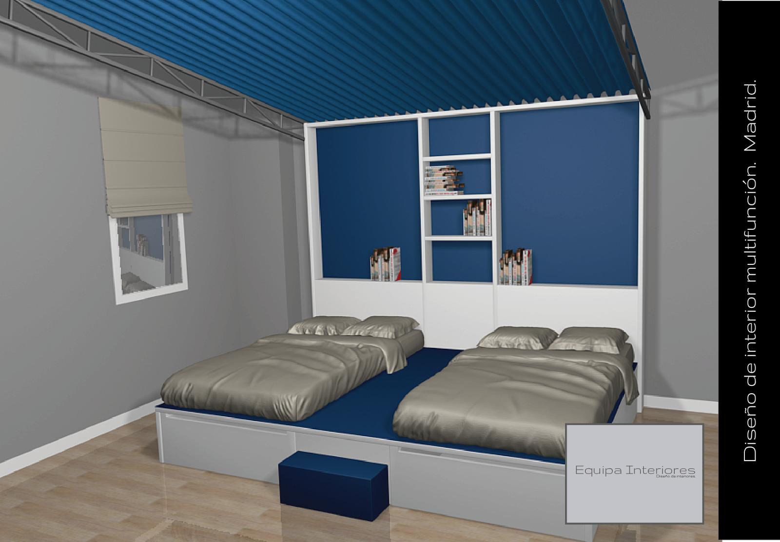 tarima se puede colocar unos colchones y obtenemos dos camas de grandes dimensiones una forma diferente de decorar un cuarto de juegos