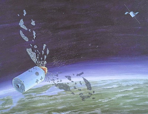 Chinese Anti Satellite System leaving debris in space creating space garbage
