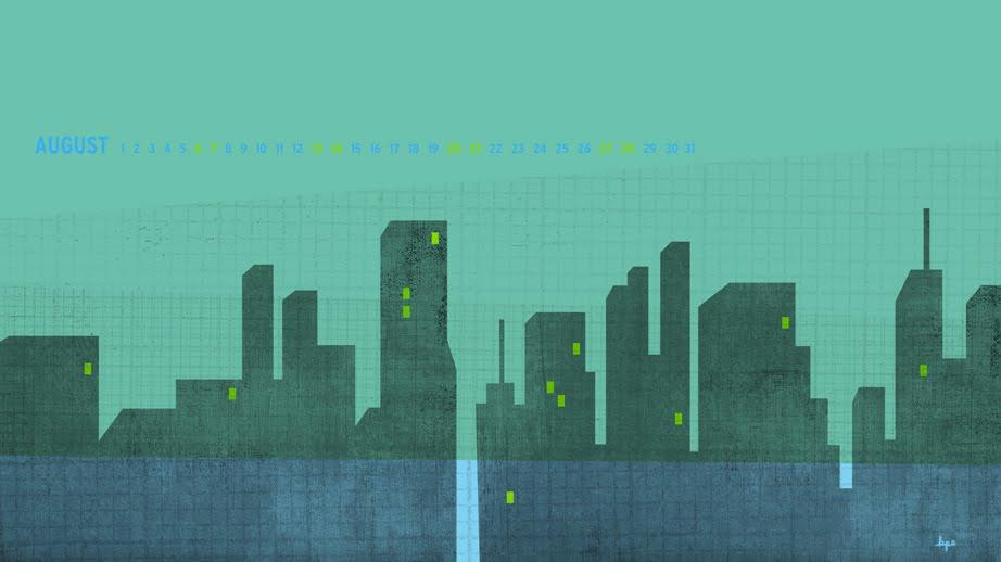 Kinnon Elliott Illustration August Desktop Wallpaper